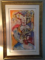 Wine Taster 2003  Overpaint Limited Edition Print by Alexandra Nechita - 4