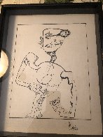 Untitled Figurative Drawing 1990 14x10 Early Work Drawing by Alexandra Nechita - 3