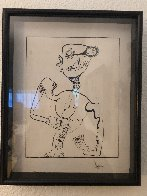 Untitled Figurative Drawing 1990 14x10 Early Work Drawing by Alexandra Nechita - 1