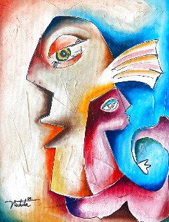 Untitled Painting  2004 16x22 Original Painting - Alexandra Nechita