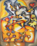 Faces of Happiness 2001 Limited Edition Print by Alexandra Nechita - 0