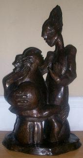Beginning of Us Bronze Sculpture 2004 Sculpture by Alexandra Nechita