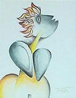 Study For Foolish Identity II 2002 Watercolor 9x12 Watercolor by Alexandra Nechita - 2