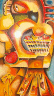 Orange Apple Overpaint 1999 Limited Edition Print by Alexandra Nechita