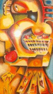 Orange Apple Overpaint 1999 Limited Edition Print - Alexandra Nechita