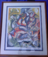 Swimming with Dolphins 1998 Limited Edition Print by Alexandra Nechita - 1