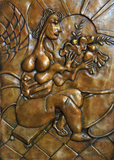 Let There Be Peace Bas Relief Bronze Sculpture 2008 28 in Sculpture - Alexandra Nechita