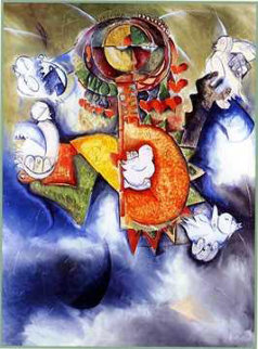 Hearts of Peace 1996 Limited Edition Print by Alexandra Nechita