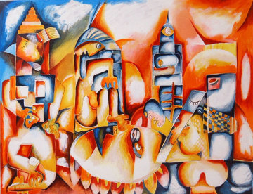 Skyline 1997 Limited Edition Print by Alexandra Nechita