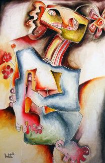 Flower Confetti 1997 24x36 Original Painting by Alexandra Nechita