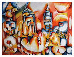 Skyline AP 1997 Limited Edition Print - Alexandra Nechita