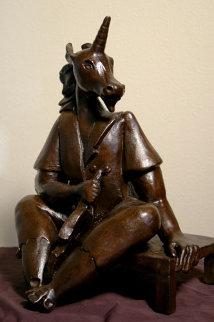 Unicorn Bronze Sculpture 26 in Sculpture by Alexandra Nechita