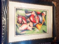 Hearts to Love Wings to Fly 1999 Limited Edition Print by Alexandra Nechita - 2
