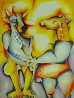 Confronting Your Fantasies 2003 Limited Edition Print by Alexandra Nechita