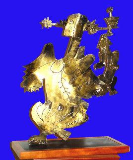 Guardian Angel Bronze Sculpture Unique 2000 Sculpture by Alexandra Nechita