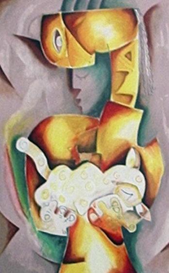 Soft Velvet Cat 1998 Limited Edition Print by Alexandra Nechita