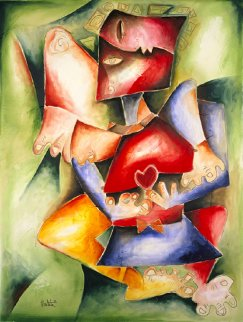 Hearts to Love, Wings to Fly 1998 Limited Edition Print by Alexandra Nechita