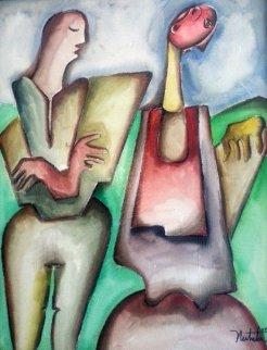 Where Do We Go 2007 28x24 Original Painting by Alexandra Nechita