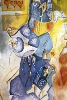 Blueberry Man AP 1997 Limited Edition Print by Alexandra Nechita