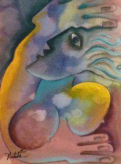 Unsettled Wind 2005 31x27 Original Painting - Alexandra Nechita
