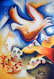 Sprinkle the Joy of Peace 1998 Limited Edition Print by Alexandra Nechita