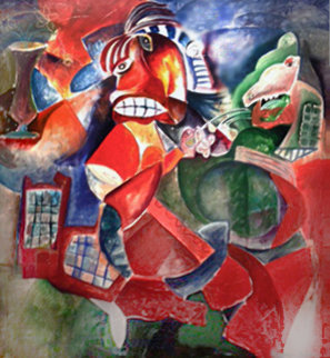 Together All the Time 1995 63x62 Original Painting by Alexandra Nechita