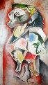 Tribute to the Teachers 1995 61x37 (early) Original Painting - Alexandra Nechita