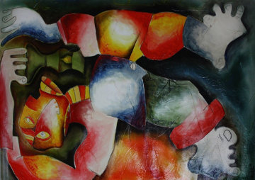 Had He Missed the Light 1998 48x30 Original Painting by Alexandra Nechita