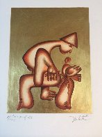 Untitled 23 k Gold Leaf Etching PP Limited Edition Print by Alexandra Nechita - 1