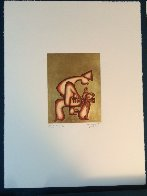 Untitled 23 k Gold Leaf Etching PP Limited Edition Print by Alexandra Nechita - 2