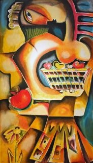 Orange Apple 1999 Limited Edition Print by Alexandra Nechita