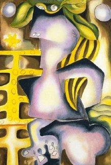 Narcissius and Echo 2006 Embellished   Limited Edition Print - Alexandra Nechita