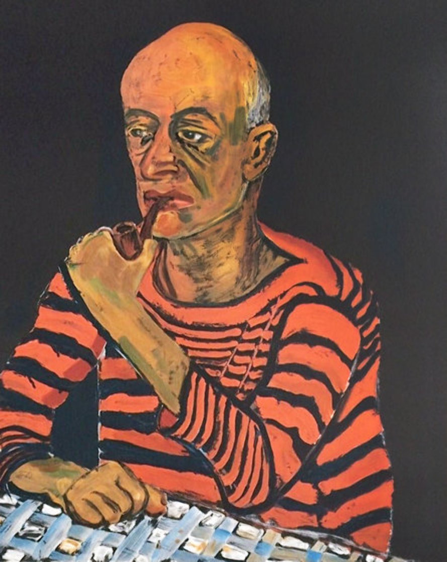 Portrait of John Rothschild PP 1980 Limited Edition Print by Alice Neel