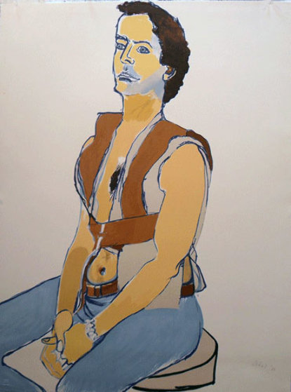 Man in Harness BAT 1980 Limited Edition Print by Alice Neel