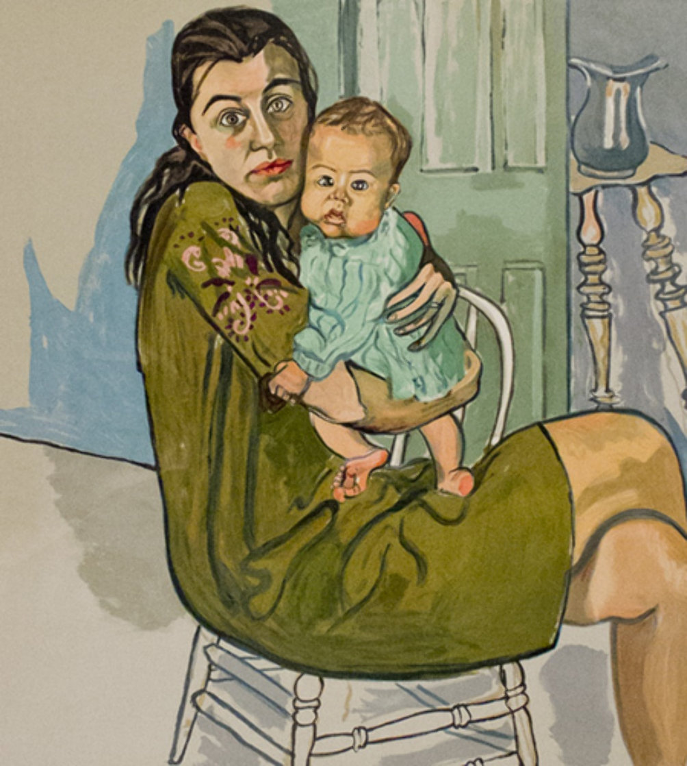Mother and Child (Nancy and Olivia ) 1982 Limited Edition Print by Alice Neel