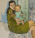 Mother and Child (Nancy and Olivia ) 1982 Limited Edition Print - Alice Neel