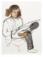 Portrait of Edward Avedesian Limited Edition Print by Alice Neel - 1