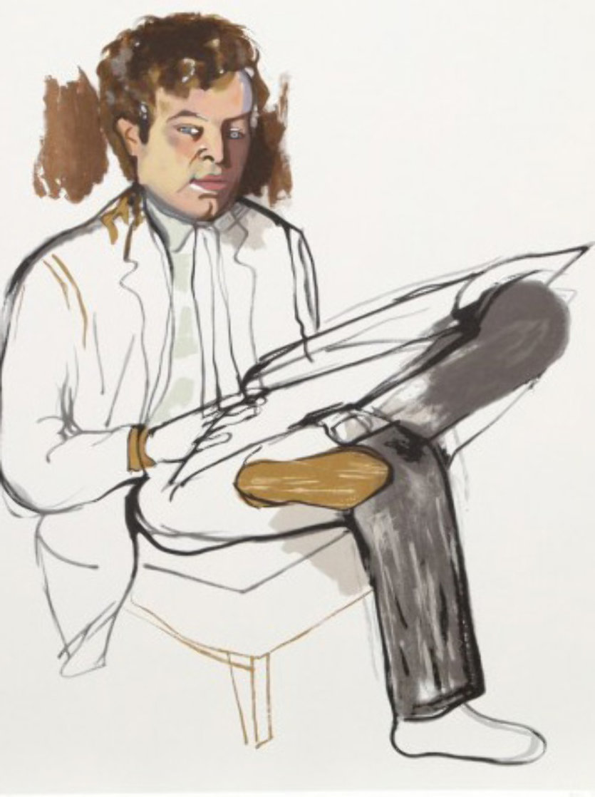 Portrait of Edward Avedesian Limited Edition Print by Alice Neel