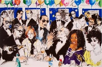 Celebrity Night At the Spago Limited Edition Print - LeRoy Neiman