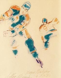 Wayne Gretzky 1989 34x31 Drawing by LeRoy Neiman