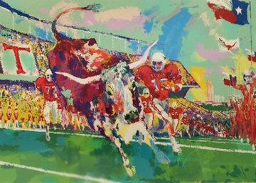 Texas Longhorns AP 1985 Limited Edition Print - LeRoy Neiman