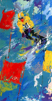 Winter Olympics Skiing Lake Placid 1980 Limited Edition Print by LeRoy Neiman