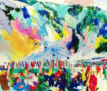 Aspen Mountain Rendezvous  2002 Limited Edition Print - LeRoy Neiman
