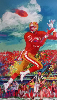Jerry Rice AP 1995 HS by Jerry Rice Limited Edition Print by LeRoy Neiman
