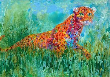 Prowling Leopard 2003 Limited Edition Print by LeRoy Neiman