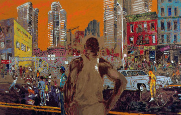 Harlem Streets AP 1982 Limited Edition Print - LeRoy Neiman
