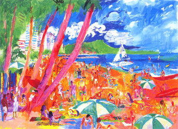 Diamond Head, Hawaii 1988 Limited Edition Print - LeRoy Neiman