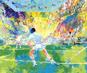 Stadium Tennis 1981 Limited Edition Print by LeRoy Neiman