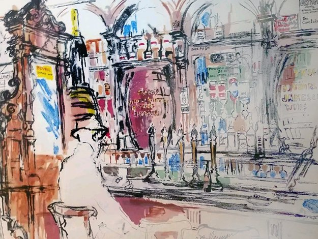 Dublin Bar - The Stag's Head  1990  Limited Edition Print by LeRoy Neiman