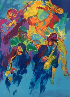 Jazz Horns 2004 Limited Edition Print - LeRoy Neiman